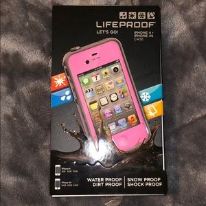 NWT LIFEPROOF Pink iPhone 4+/4S Case